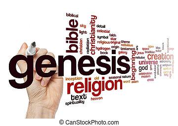 Genesis word cloud concept - Genesis word cloud