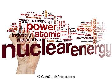 核, エネルギー, 単語, 雲