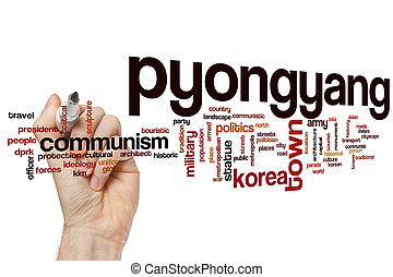 Pyongyang word cloud concept