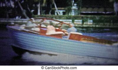 FT. LAUDERDALE, USA - 1957: Boating - Unique vintage 8mm...