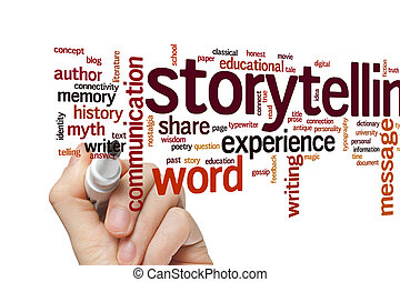 Storytelling word cloud - Storytelling concept word cloud...