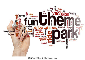 Theme park word cloud concept - Theme park word cloud