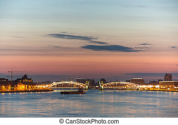 Neva river - View of Neva river in St Petersburg, Russia