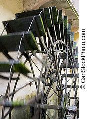 Water mill - Borghetto, beautiful village in the Veneto -...