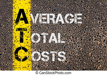 Business Acronym ATC as Average Total Costs - Concept image...