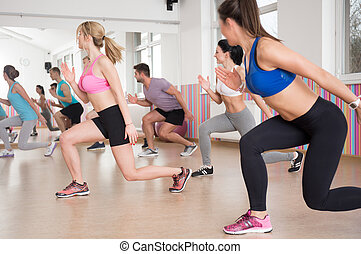 Sports activities in fitness club - View of sports...