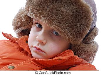 girl wearing winter clothing