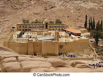 Saint Catherines Monastery, Sinai Peninsula, Egypt...