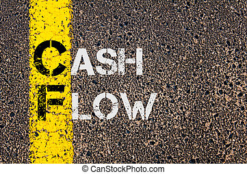 Business Acronym CF as Cash Flow - Concept image of Business...