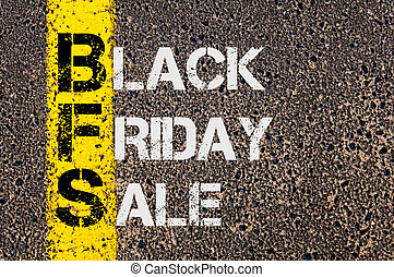 Business Acronym BFS as Black Friday Sale - Concept image of...