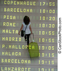 International Traveler - An International Traveler walking...