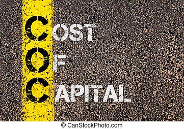 empresa / negocio, siglas, Coc, como, coste, de, capital,