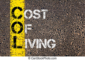 Business Acronym COL as Cost Of Living