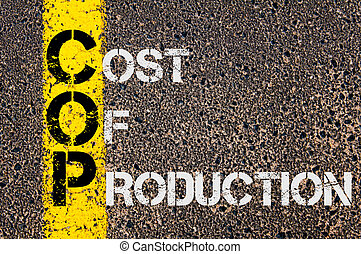 Business Acronym COP as Cost Of Production