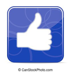 Thumbs up icon - vector illustration (EPS10), you can simply...