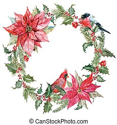 Christmas wreath - Beautiful vector image with nice...