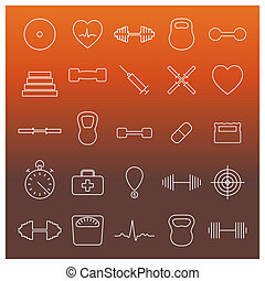 Icons sport and health, illustration - Icons sport and...