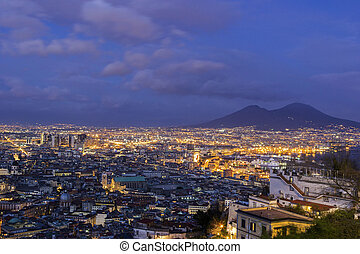View on Naples in Italy