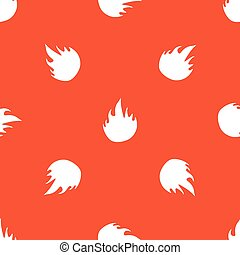 Orange fire pattern - Image of flame, repeated on orange...