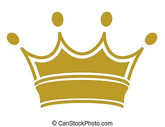 royal crown - vector - simple classic royal crown. Vector...