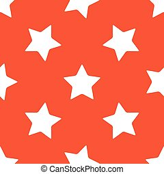 Orange star pattern - Image of star, repeated on orange...
