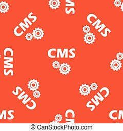 Orange CMS settings pattern - Text CMS with two gears,...