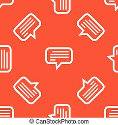 Orange text message pattern - Image of chat bubble with...