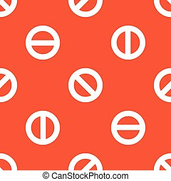 Orange NO sign pattern