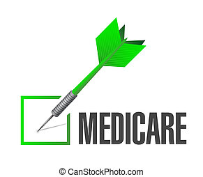 Medicare check dart sign concept illustration design over...