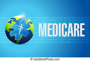 Medicare international sign concept illustration design over...