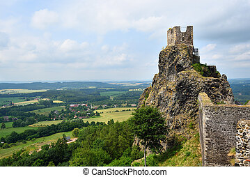 Iconic castle of Trosky in the Bohemian Paradise in the...