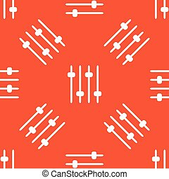 Orange faders pattern - Image of four console faders,...