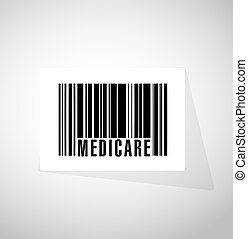 Medicare barcode sign concept illustration design over white
