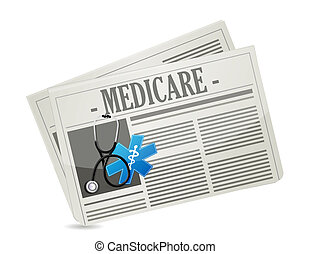 Medicare paper sign concept illustration design over white
