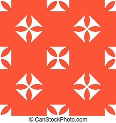 Orange maltese cross pattern - Image of maltese cross,...