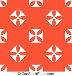 Orange maltese cross pattern - Image of maltese cross,...
