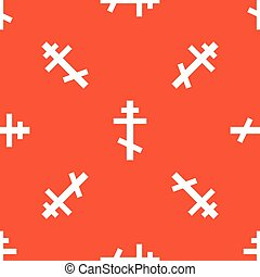 Orange orthodox cross pattern - Image of orthodox cross,...