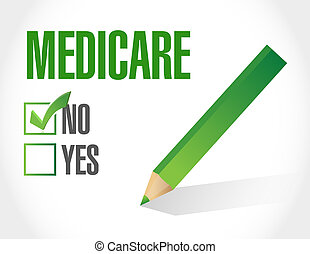 no Medicare sign illustration design over white