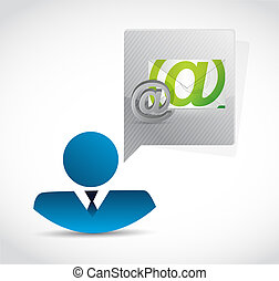 avatar contact us mail illustration design isolated over...