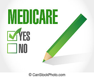Medicare approval sign illustration design over white