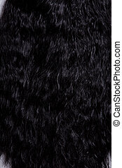 Texture of black curly hair