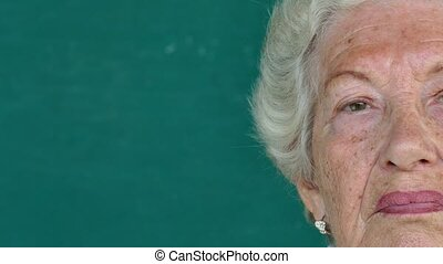 14-Portrait Hispanic People - Sad old people portrait with...