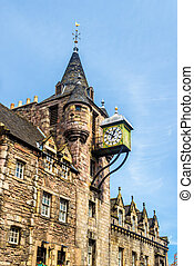 Canongate Tolbooth, a historic landmark of the Old Town of Edinburgh