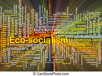 Eco-socialism background concept glowing