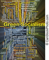 Green socialism background concept glowing - Background...