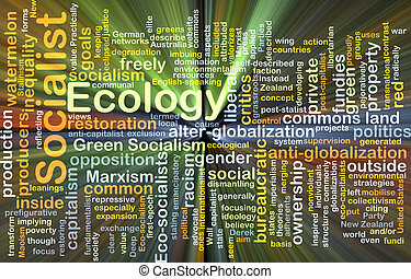 Socialist ecology background concept glowing - Background...
