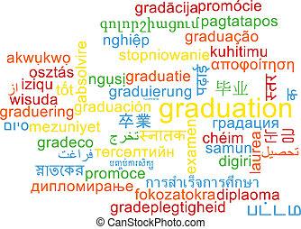 Graduation multilanguage wordcloud background concept