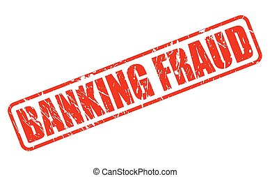 BANKING FRAUD red stamp text on white