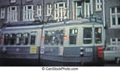 COPENHAGEN - 1966: Street cars were - Unique vintage 8mm...