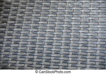 Texture of black rattan background